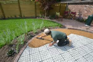 How To Lay Gravel In Backyard by Resin Bound Gravel Patio In Wilmslow Back Yard