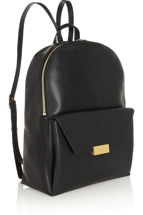 Black Backpack lyst stella mccartney beckett faux leather backpack in black