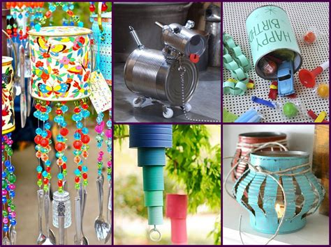 Recycled Home Decor Projects by Diy Tin Can Crafts Ideas Recycled Home Decor