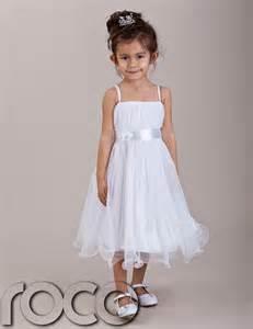 baby girls white hoop dress bridesmaid prom wedding flower