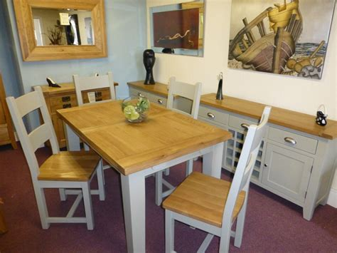 Painted Oak Dining Table And Chairs Painted Furniture Oak Furniture Leyland Painted Furniture Painted Dining Tables