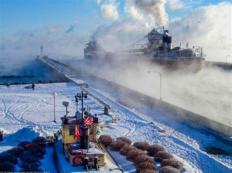 lake superior sea smoke pin by laura w on duluth mn superior wi lake superior