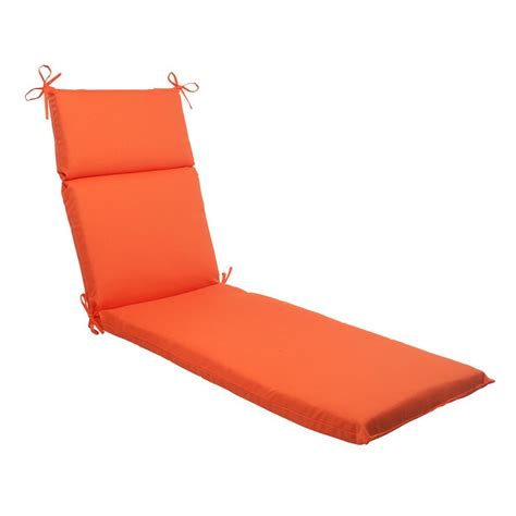 chaise lounge chair cushion shop pillow perfect sundeck orange solid standard patio