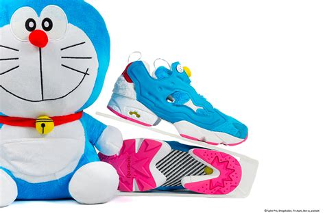 doraemon reebok instapump fury by packer shoes sneakernews