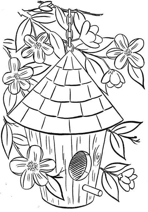 birdhouse coloring pages birdhouse coloring page coloring home
