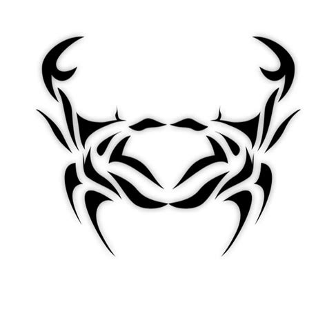 tribal zodiac tattoos cancer tribal black ink cancer design tattooshunt