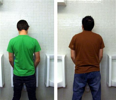 guys using the bathroom ask men s fitness what is proper urinal etiquette