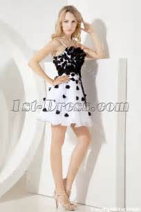 black and white dresses black and white sweet sixteen gown with spaghetti straps 1st dress