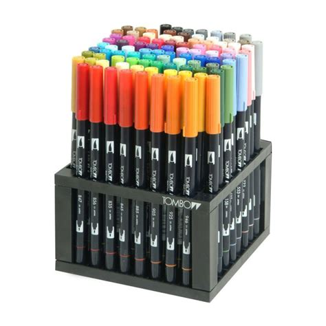 Tombow Dual Brush Bright Palette Set Tombow Dual Brush Set 10 tombow dual brush watercolor markers set of 96 colors drawing 56149 ebay