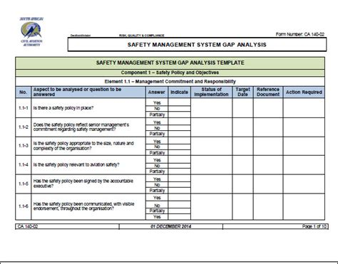 gap report template gap analysis template 16 free documents in pdf