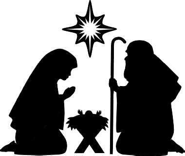 Free Christmas Creche Cliparts Download Free Clip Art Free Clip Art On Clipart Library Nativity Silhouette Template
