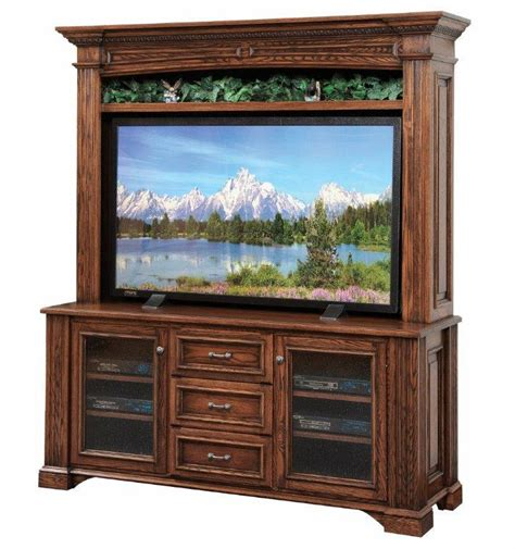 Tv Hutches amish lincoln 68 quot tv stand with optional hutch top