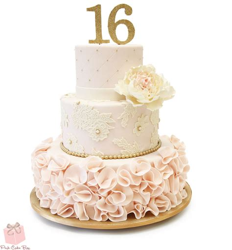 Sweet 16 Cakes sweet 16 cakes in new jersey 187 pink cake box custom cakes