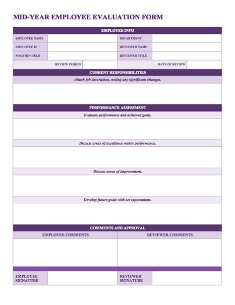 Free Employee Performance Review Templates Smartsheet Employee Evaluation Form Template
