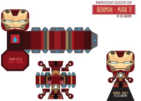 Mini Paper Craft - mini papercraft ironman 3 17 35 38