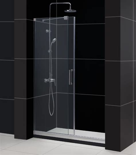 Sliding Glass Shower Door by Mirage Frameless Sliding Shower Door Dreamline Bathroom