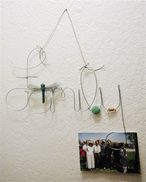 wire photo display hanging family wire word photo holder picture frame with