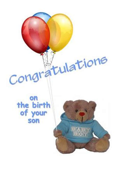 congratulations on the birth of your son