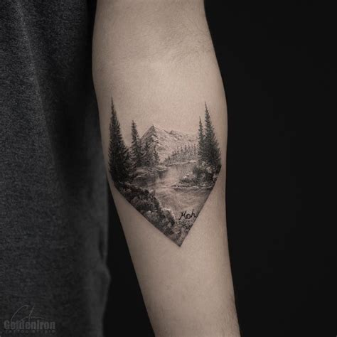 landscape tattoos splendid landscape by grxsy