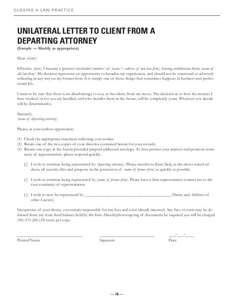Closing Letter From Attorney To Client Closing Practice