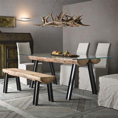 in tronchi di legno tavolo con tronchi di legno colorado arredaclick