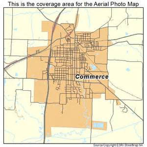 aerial photography map of commerce tx