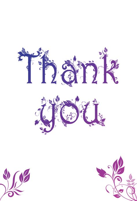 Thank You Card Cover Template by Decorated Thank You Card Free Thank You Card Template