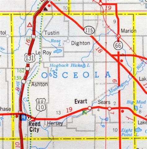 Osceola County Records Osceola County Map Michigan Michigan Hotels Motels Vacation Rentals Places