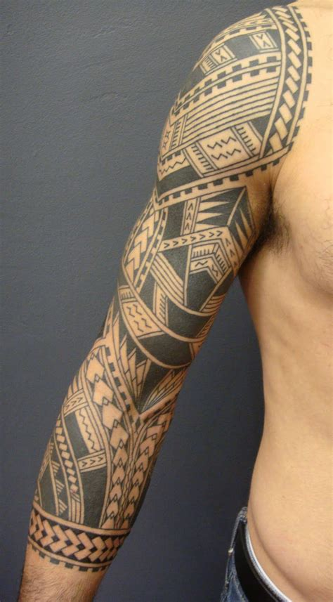 poly tribal tattoos maori polynesian polynesian sleeve