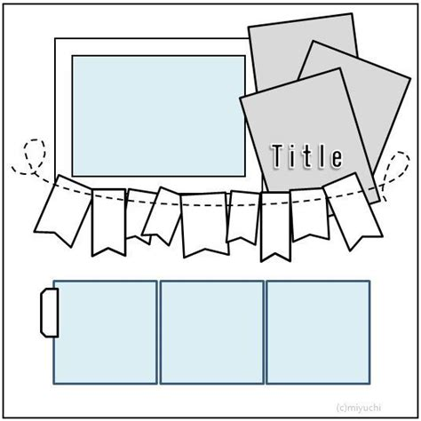 layout templates for scrapbooking 62 best scrapbooking sketches for 4x6 photos images on