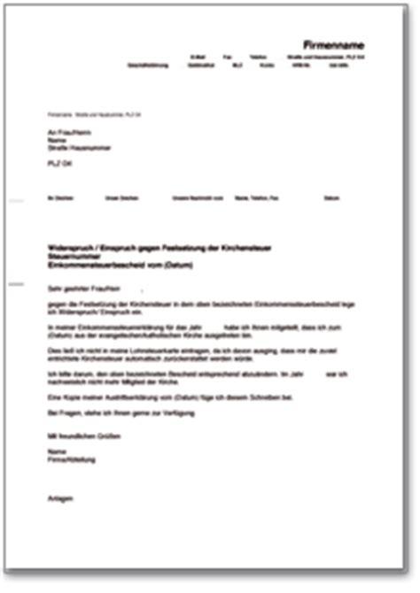 Musterbrief Einspruch Nebenkostenabrechnung Einspruch Gegen Festsetzung Der Kirchensteuer De Musterbrief