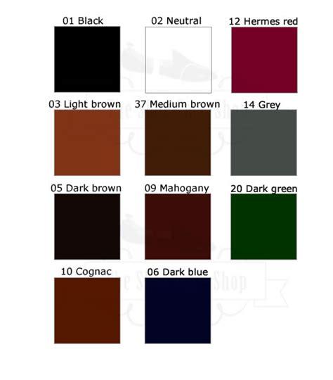 sapphire color chart colour charts saphir m 233 daille d or the shoecare shop