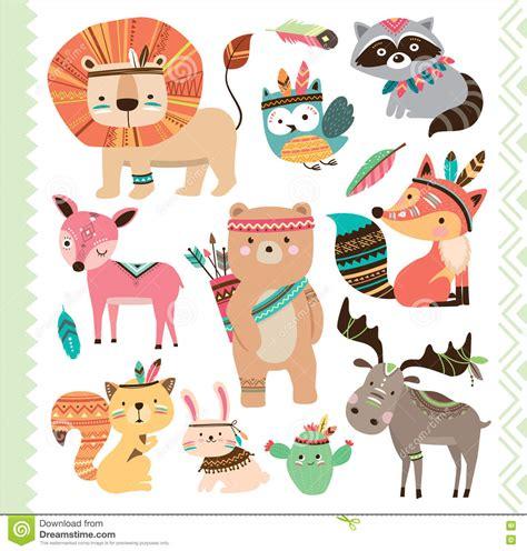 cute animals in boats kids design elements set stock cute animals in space ships kids design elements set