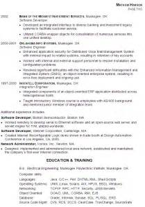 resume sle for a senior software engineer susan