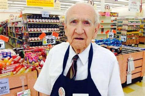 when you hear what this 94 year grocery bagger got on