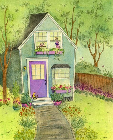 House Portrait Artist by Sleepy Little House In The Garden Nicole Wong