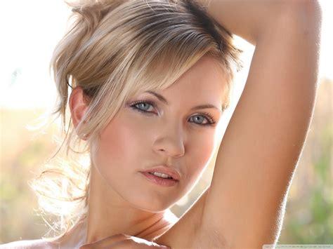 blonde woman  blue eyes ultra hd desktop background