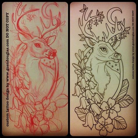 tattoo sketch process for tomorrow back of forearm very excited deer