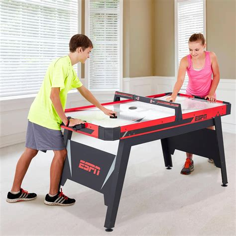 air hockey table price walmart espn 60 quot air powered hockey table better than