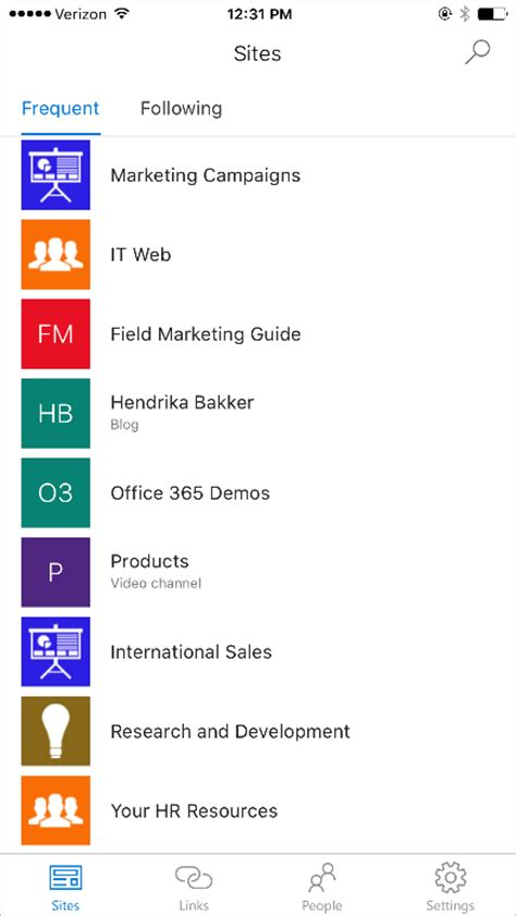 mobile app ios your intranet in your pocket the sharepoint mobile app for