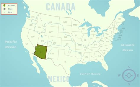 united states map arizona arizona az state information