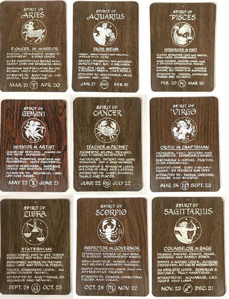 True Home Decor True Vintage Spirit Wood Plaque Panel Home Decor Zodiac Wall Hanging Ebay