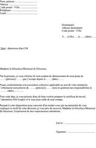 Exemple De Lettre De Démission Cdd Modele Lettre De Demission Preavis Document
