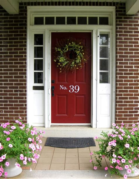 front door colors with red brick 25 best ideas about red doors on pinterest red door