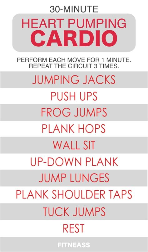 30 minute pumping cardio workout