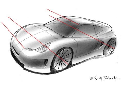 sketchbook car tutorial perspective drawing tutorial car body design