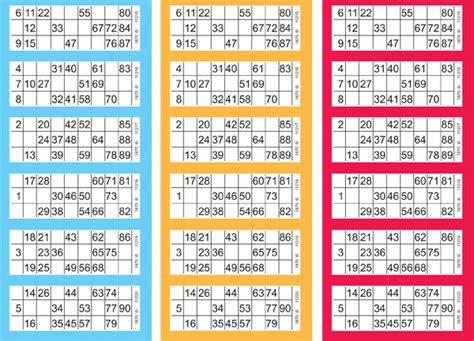 printable number bingo cards 1 90 17 best images about bingo general on pinterest
