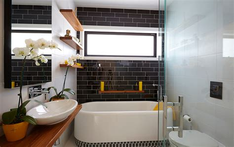 Bathroom Wall Tile Design the block nz season ii contemporary bathroom