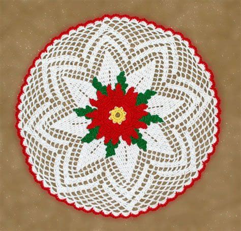 pintrest crochet christmas poinsettia doily crochet gifts crochet and poinsettia