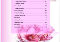 spa price list template spa price list template